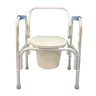 Commode aluminum adjustable assisted living commode for Bathroom accessories height